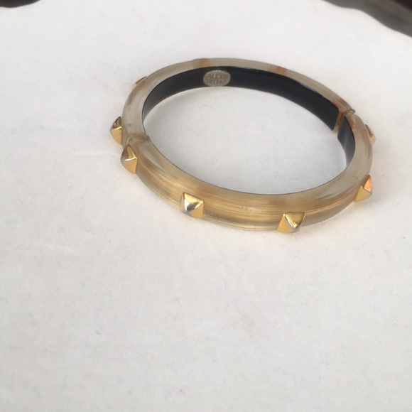 Alexis Bittar Jewelry - Alexis Bittar gold hinged lucite braclet